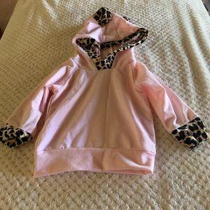Two piece pant set pink/ leopard